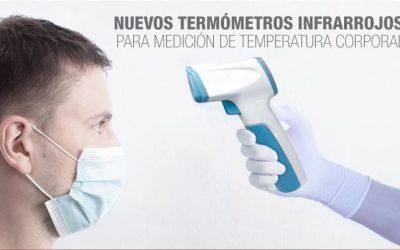 Termometros Infrarrojos de Medicion de Temperatura sin contacto